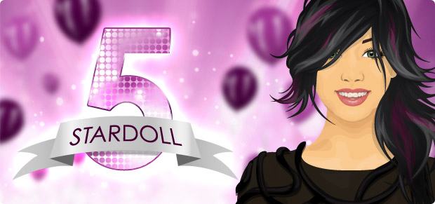 Stardoll.com is 5 jaar oud!
